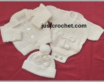 Boys 3 piece outfit Baby Crochet Pattern (DOWNLOAD) 105