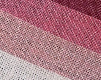 BLUSH PINK Burlap Fabric By the Yard - 58 - 60 inches wide