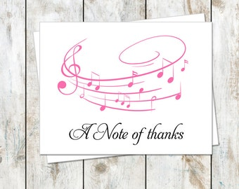 Music Inspired Stationery