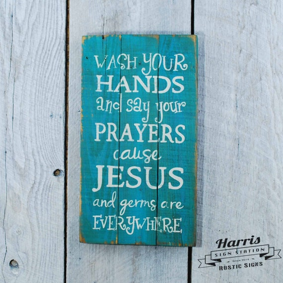 Jesus and Germs Sign Pallet Sign Painted Pallet Sign Rustic