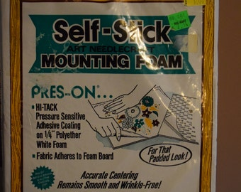 SALE! Self sticking backing for cross stitch, 8x10
