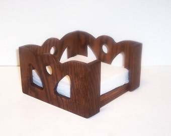 Napkin Holder made from Solid Oak for your Table Top or Counter Top