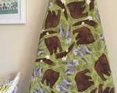 Ironing Board Cover - Bear Wolf Eagle Trail Mix in Green