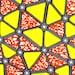 African Fabric 1/2 Yard Wax Print Cotton YELLOW ORANGE Abstract Triangles