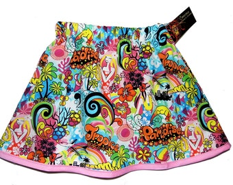 ON SALE Hawaii Skirt - Kawaii Clothing -  Toddler Girl - Harajuku Clothing - Girls Skirts - 3m, 6m, 12m, 18m, 2t, 3t, 4t, 5t, 6, 7, 8