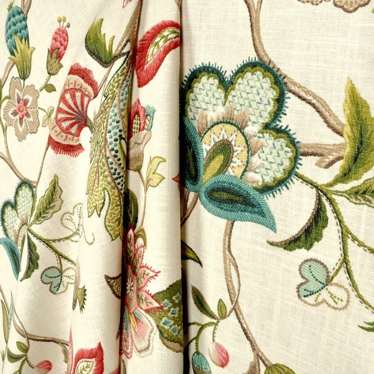 Floral Curtains Jewel Tone Window Curtains By