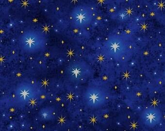 North Star Night Fabric 1/2 Yard