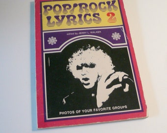 Music Vintage Rock and Roll Song Lyrics Paperback Book Historical Collectible Mid Century Music