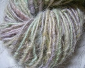 Handspun Hand Dyed Cotswold Wool Textured Bulky Art Yarn in Swirling Pastel Colors for Knit Crochet Weave or Felt by KnoxFarmFiber