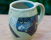Green Fishy Fishy Mug by Bunny Safari