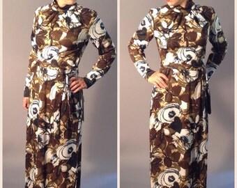 Vintage Deadstock Maxi Dress Hostess Gown Skirt S/M