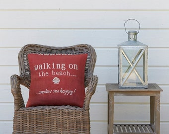 Cross stitch pattern SUMMER - red,nautical,cross stitch,beach,needlepoint,burlap pillow,needlepoint pillow,pillow cover,diy,Anette Eriksson