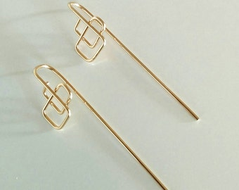 Geometric Hook Earrings #1 - 14 kt Gold Filled