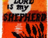 "The Lord Is My Shepherd 18""x27"" Latchhook Wall Hanging"