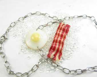 Friendship bracelet, BFF Bacon and Egg, best friend bracelet, best friend gift, friendship jewelry, friendship bracelet for 2, best friend