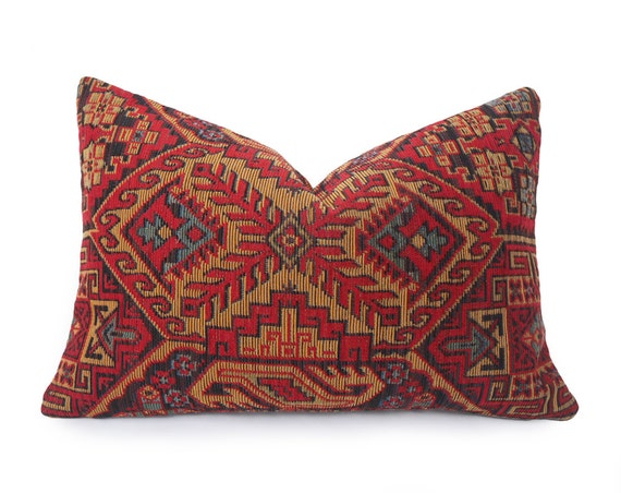Southwestern Lumbar Pillow : Rustic Southwestern Pillow Cover Lodge Lumbar Pillow 14x20