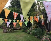 Order for Sasha , 2 Extra Long Bunting 1 in (yellows and greens) and 1 mixed colours, both 33ft or 10m Long