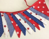 Boys Bunting / fabric banner, nautical banner, nursery garland, party bunting