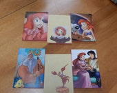 Up cycled Note Pads Party Favors Disney Little Mermaid