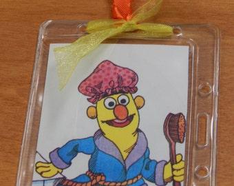 Luggage Bag Tag ID Holder Sesame Street Snuffleupagus