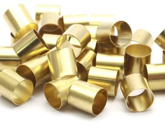Brass Tube Beads - 24 Raw Brass Tube Beads (8x8mm) Bs 1540
