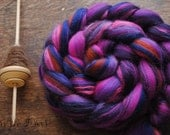 CHESHIRE - Custom Blend Merino Bamboo and Tussah Silk Combed Top Wool Roving for Spinning or Felting