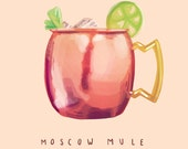 Moscow Mule - Illustration Print