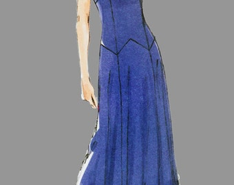 Mid length Flowing dress with detachable cape Sewing Pattern, Vogue 1391 Patterns Original Todays Fit Sandra Betzina Size 32 - 55 inch bust