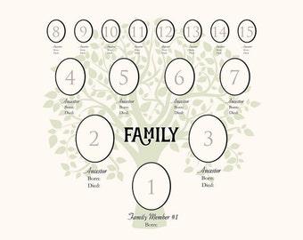 4-Generation Family Tree Digital File