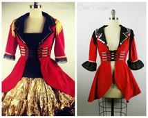 Ringmaster Costume, Ringleader Costume, Women's Ringmaster Jacket, Ringleader Coat, Lion Tamer Costume, Halloween Costume