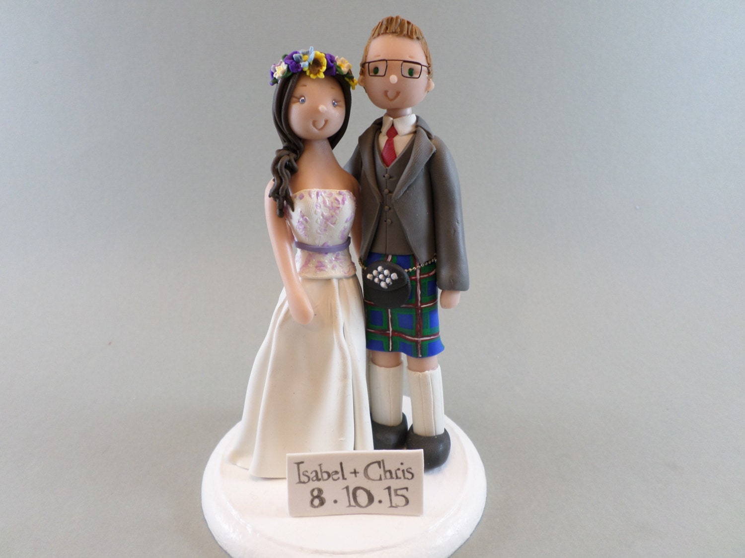 cheeky scottish wedding cake toppers customized scottish wedding cake topper 12550