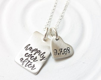 Happily Ever After - Wedding Date Necklace - Gift for Bride - Wedding Gift - Bride to Be Gift - Betrothed by lark & juniper - Gift for Her