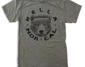 Men's Hella NORCAL t shirt american apparel S M L XL (17 Colors)