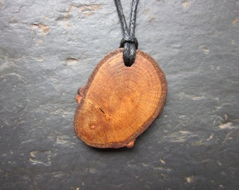 Natural Wood Pendant - English Oak - for Power and Prosperity.