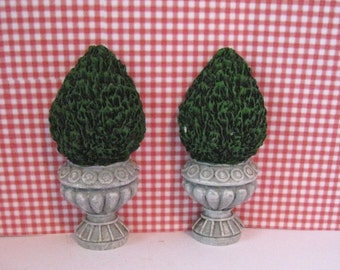 Dollhouse trees, two trees, mini trees, resin trees, topiary trees , flat back trees, Door trees,dollhouse miniature, twelfth scale