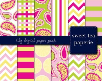 Lily Digital Paper Pack (Instant Download)