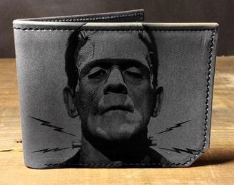 wallet, leather wallet, mens leather wallet, frankenstein wallet