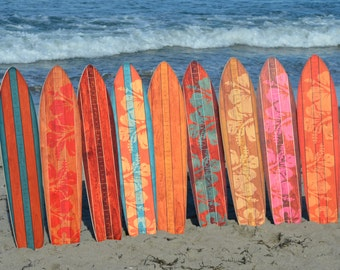 METRIC Vintage Surfboard Wooden Growth Charts with Centimeters and Inches