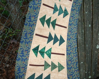 Pine Trees and Pine Cones Quilted Table Runner