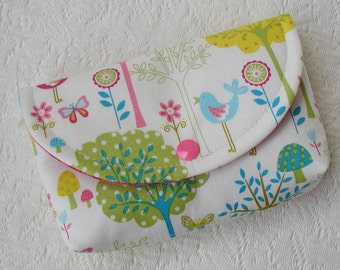 Large Snap Pouch ... Flo's Garden in Bright