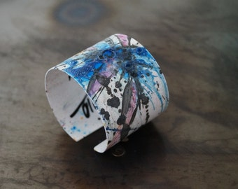 Bracelet  IN Bluse Fashion In Living Color In My Dreams Abstract miniature painting Cuff +Pendant