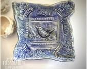 Bluebird soap dish - trinket dish
