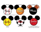SPORTS Mouse Head Magnet for Disney Cruise Ship Door
