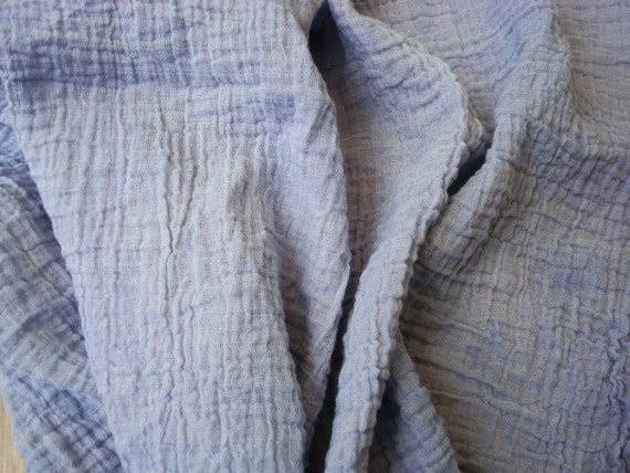 Hand Dyed Purple Crinkle Fabric By The Yard By