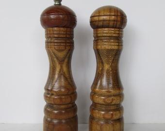 Wood Salt and Pepper Mill Set