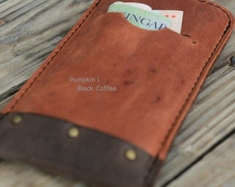 iPhone 5 | 4 | 3 Leather Sleeve - 2COLORED (Organic Leather)