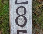 POWDER COATED NUMBERS - Individual House Numbers - Rustic Dark Brown, or Black Powdercoat finish Metal 8 inch
