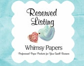 Reserved Listing for Cathy