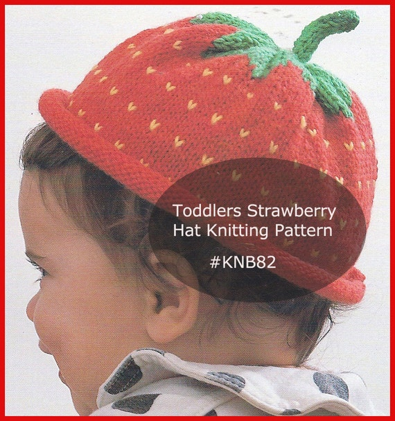 Knitting Pattern For Strawberry Hat : Strawberry Hat Knitting Pattern Child Hat To Knt KNB82