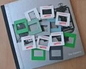 Set of 13 Vintage Blank Slide Frames Used & Unused Empty Frames for Slide Projectors Green Grey White Kodak